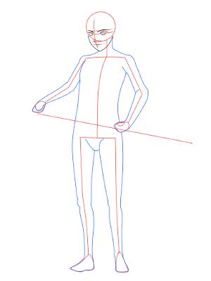 cara menggambar Sasuke Hebi tahap 8