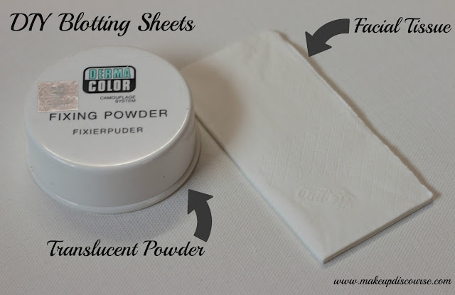 Do it yourself Blotting Sheets. Cheap DIYs