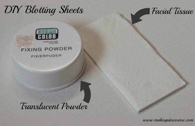 Do it yourself Blotting Sheets. Cheap DIYs