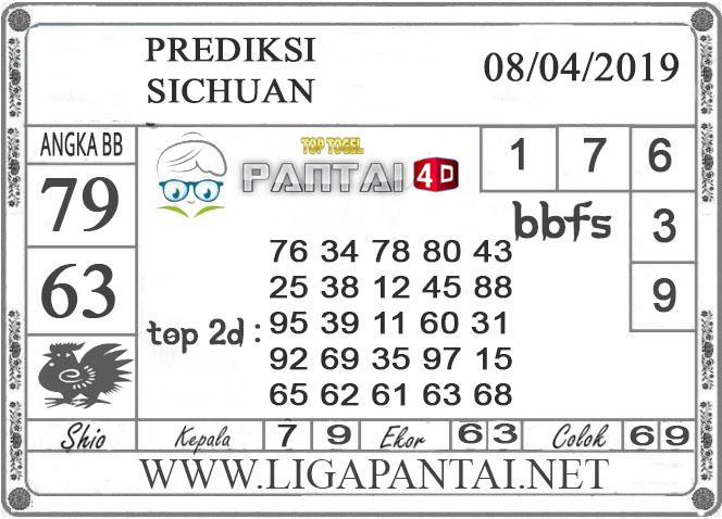 """Prediksi Togel """"SICHUAN"""" PANTAI4D 08 APRIL  2019"""