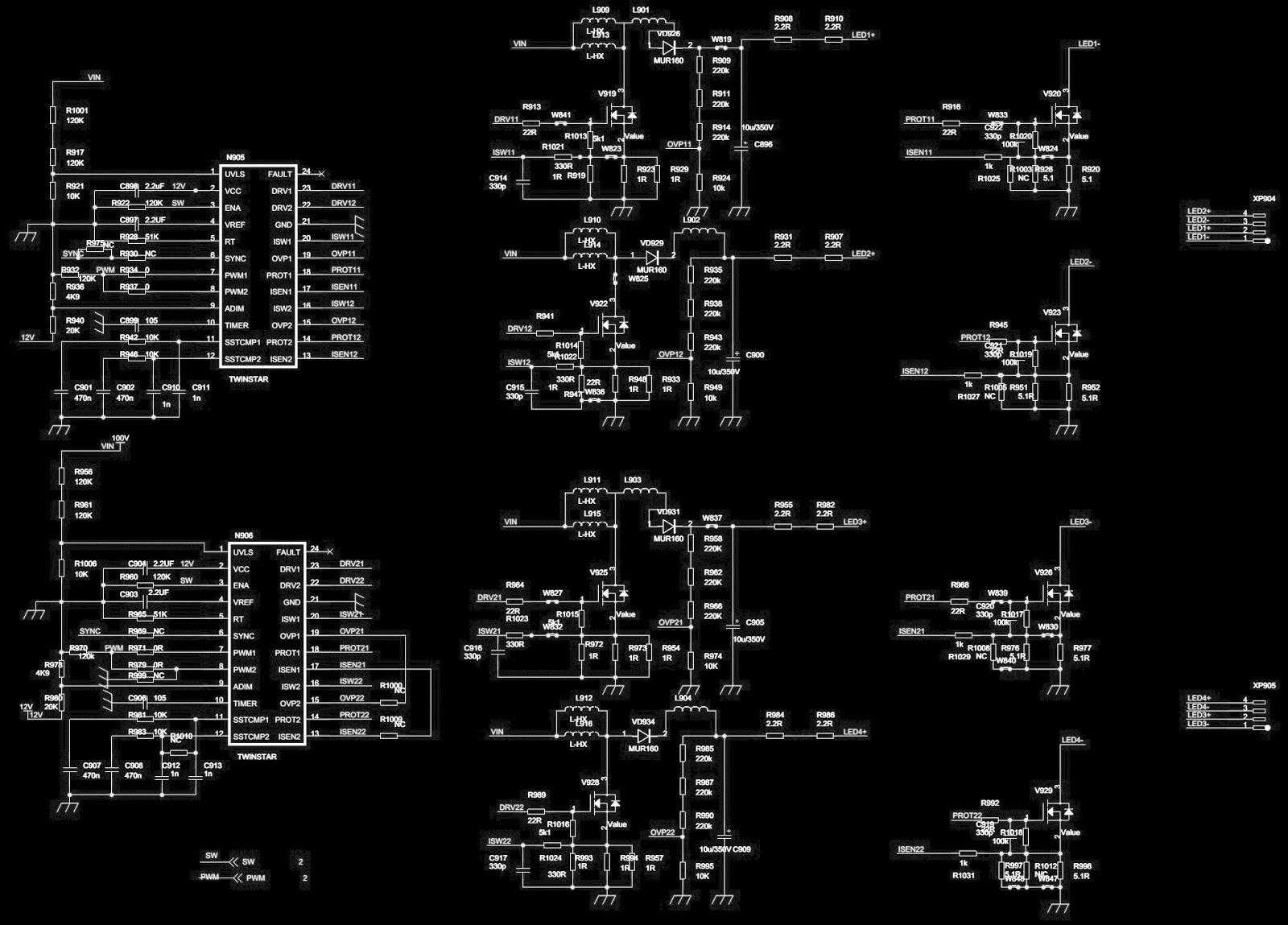 Electro Help  Hisense Led42k01p  U2013 Led Lcd Tv Smps Circuit Diagram