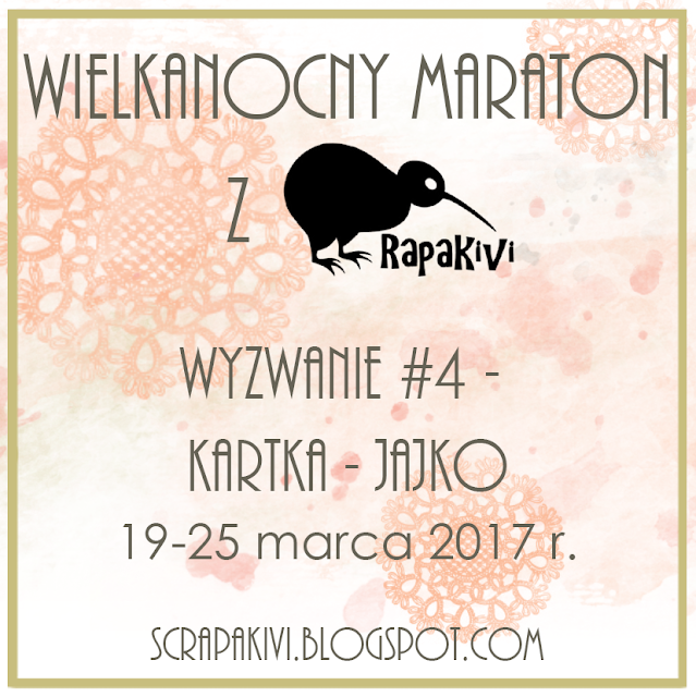 """Wielkanocny Maraton cz.4 - kartka """"jajko"""""""