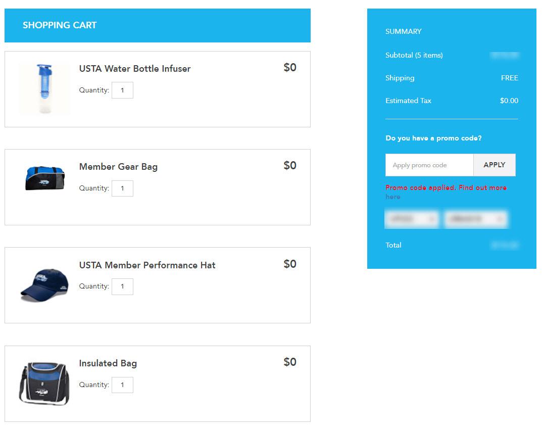 USTA Membership Free Gifts Promo Code