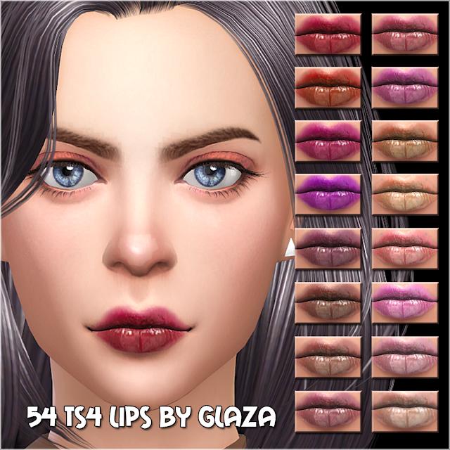 54 ts4 lips by glaza