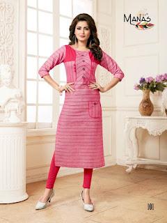 Manas Meera Handloom Cotton Designer Kurti
