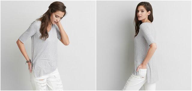 AEO Soft & Sexy Slub Jeggings T-Shirt $10 (reg $30)