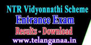 NTR Vidyonnathi Scheme Entrance Exam Results