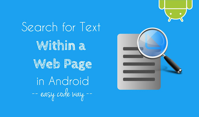 Search text within a web page in Android