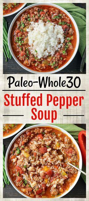 STUFFED PEPPER SOUP (PALEO & WHOLE30)