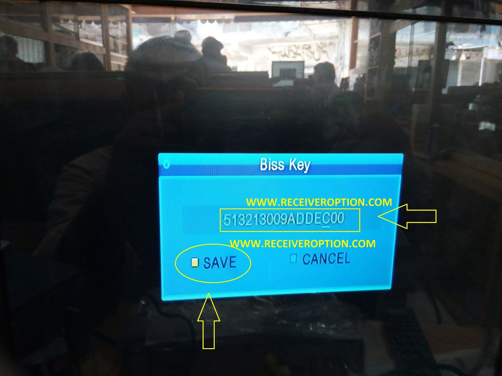 TIGER-PLUS HD RECEIVER BISS KEY OPTION - HOW TO ENTER BISS KEY POWER