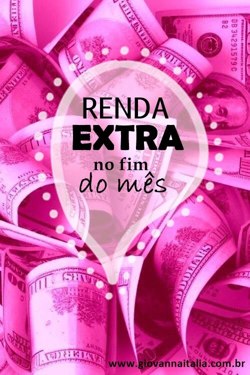 """Capa do post com dólares na cor Rosa e escrito """"Renda Extra no fim do mês"""""""