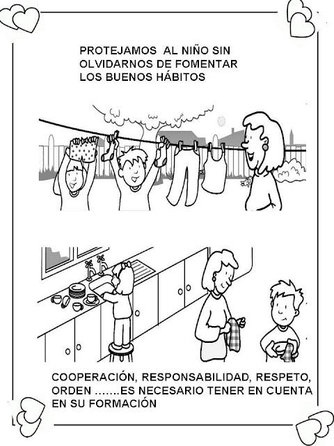 Deberes De Los Niños En El Hogar Para Colorear - Niños ...