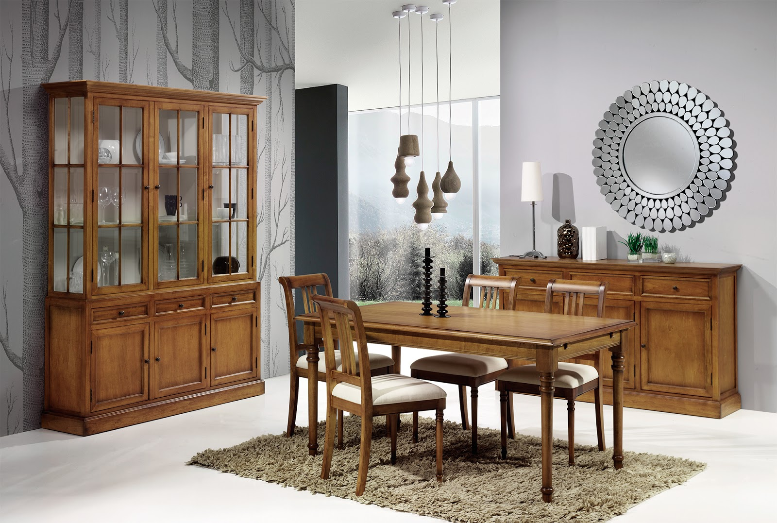 Muebles de comedor 10 comedores con vitrina for Muebles provenzales online