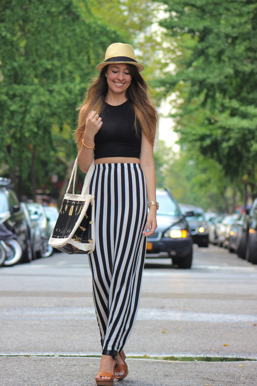 High waisted maxi skirt with crop top – Modern skirts blog for you