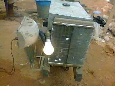 Photos: A Biafran creates Water-Powered Generator and a machine that turns non-biogradable waste into fuel, kerosene,and diesel Emmm