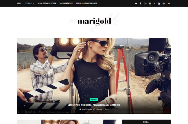 Marigold – Responsive Personal Blogger Template