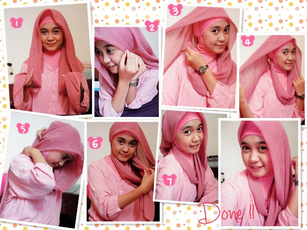 20+ foto tutorial hijab segi empat corak terupdate| tutorial hijab