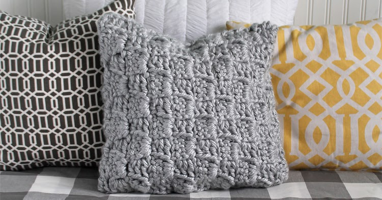 Free Crochet Throw Pillow Patterns : The Craft Patch: Free Crochet Pattern: Chunky Stairstep Throw Pillow