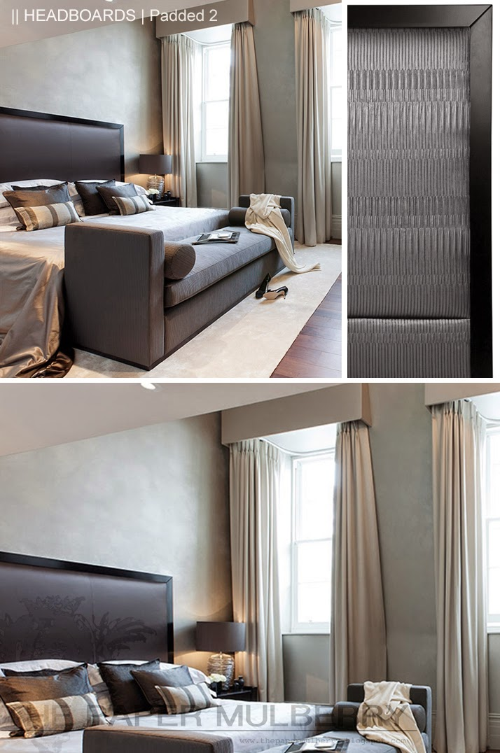 Above Image Elegantly Simple Hardwood Framed Upholstered Headboard Bach From The Sofa And Chair Company Shown In A Luxurious Deep Grey With Matching