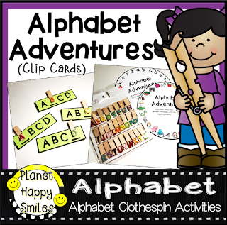 Alphabet Adventures Clip Cards