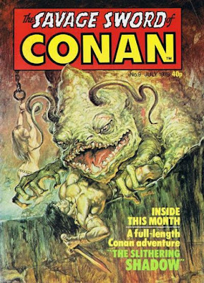 Marvel UK, Savage Sword of Conan #9, the Slithering Shadow