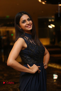 Actress Rakul Preet Singh Stills in Beautiful Blue Long Dress at Dhruva Salute to Audience Event  0037.JPG