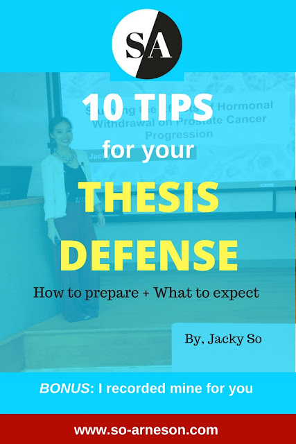 10 TIPS FOR YOUR THESIS DEFENSE: How to prepare + What to expect