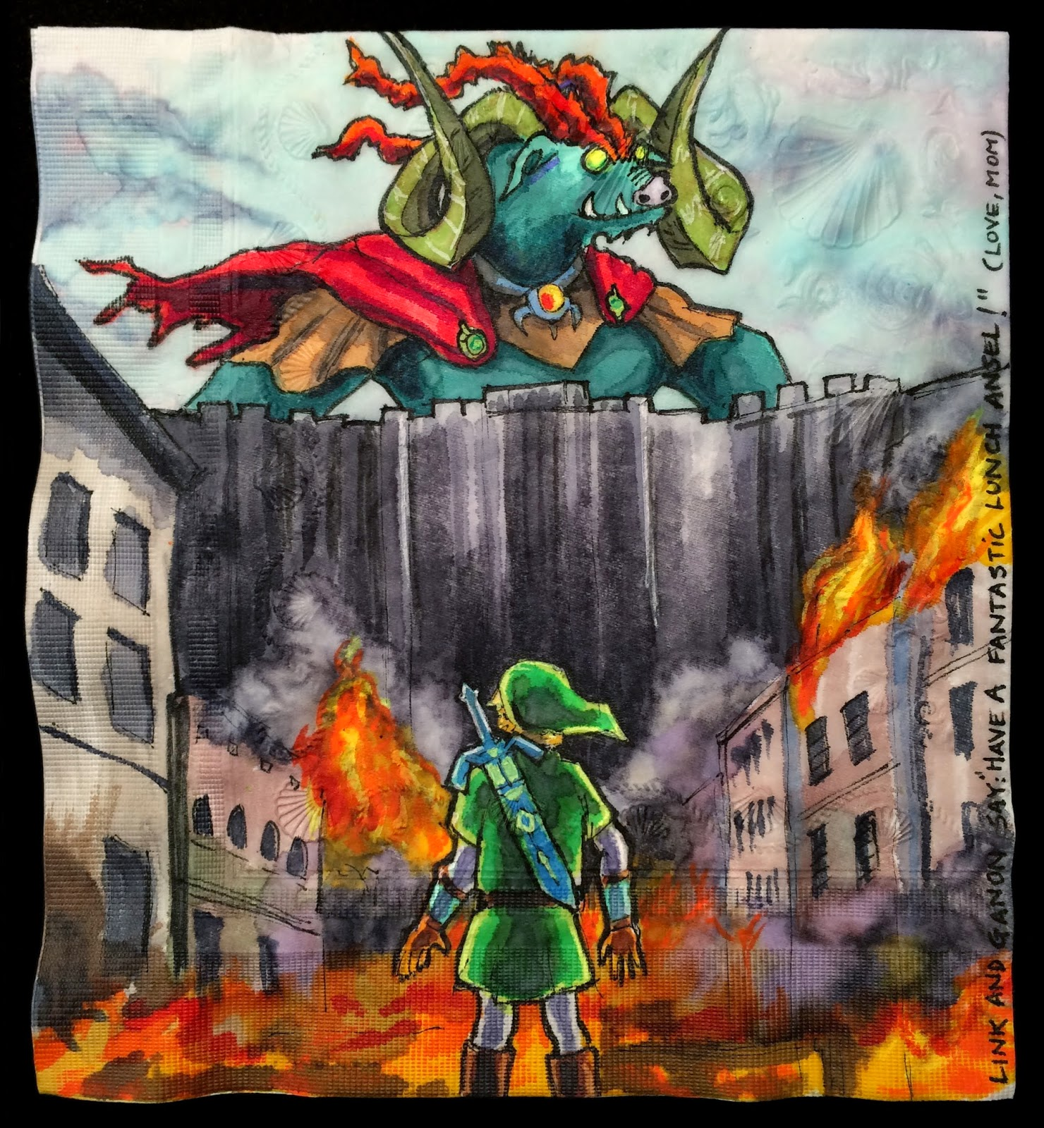 Daily Napkins: Attack On Link