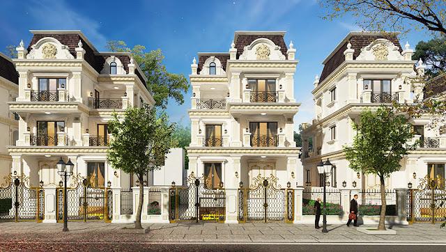 Phối cảnh khu biệt thự liền kề dự án Athena Fulland