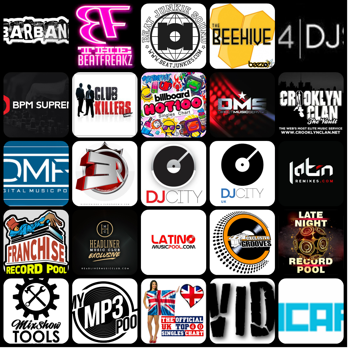 Music Pool For DJs new mp3, mp4 video hd, acapellas, DJ Tools