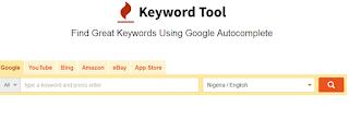 Use free keyword tool