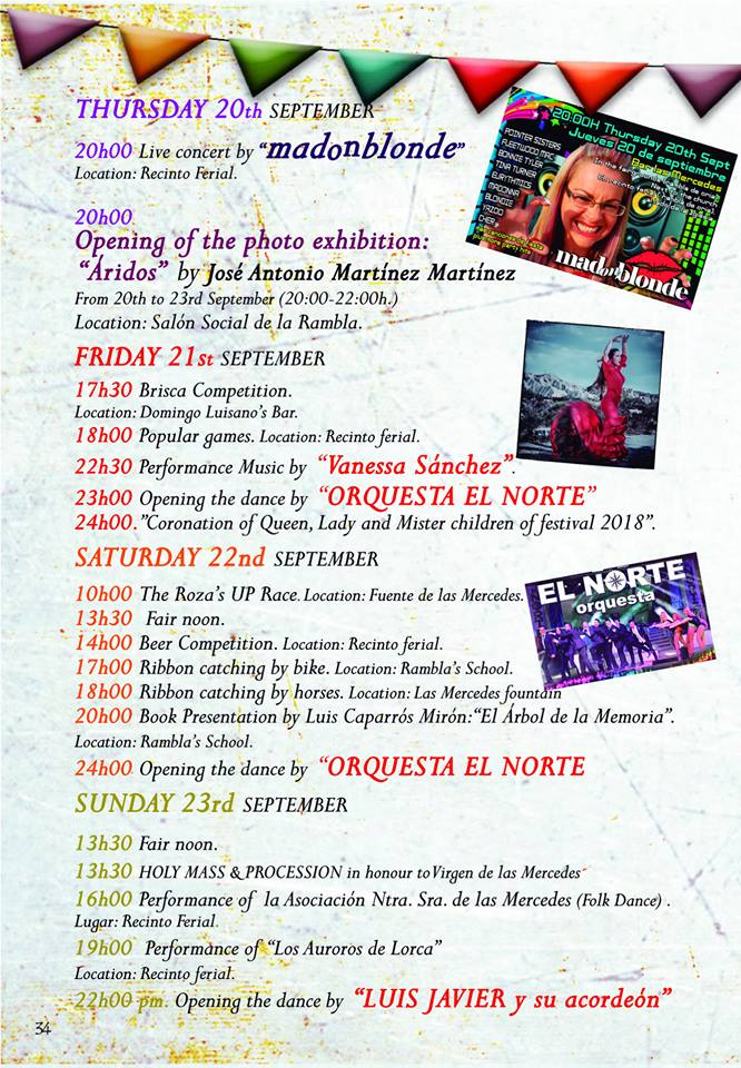 Party program Rambla de Oria