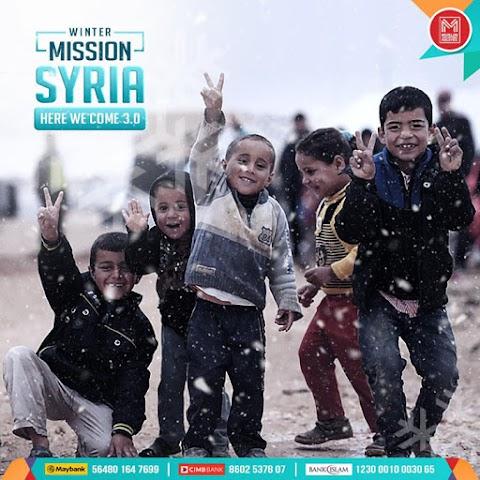 Misi Musim Sejuk Pelarian Syria Bersama Ikon-Ikon Muslim Volunteer Malaysia 2019
