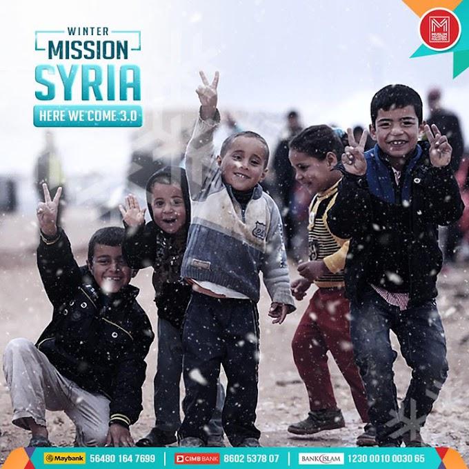Misi Musim Sejuk Pelarian Syria & Ikon-Ikon Muslim Volunteer Malaysia 2019