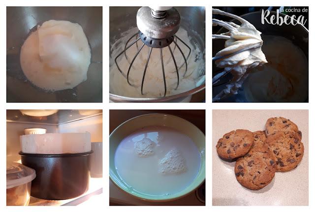 Receta de tarta de cookies y nata: preparación del relleno