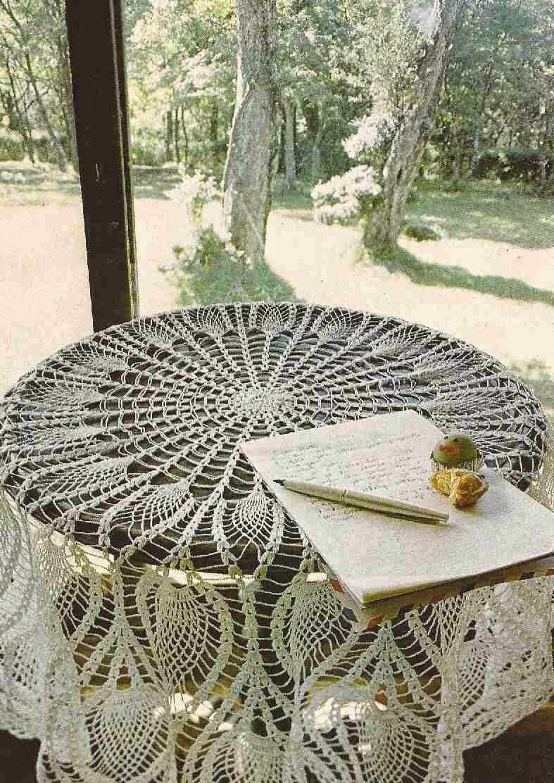 """Mantel Redondo """"Pavo Real"""" a Crochet o Ganchillo"""