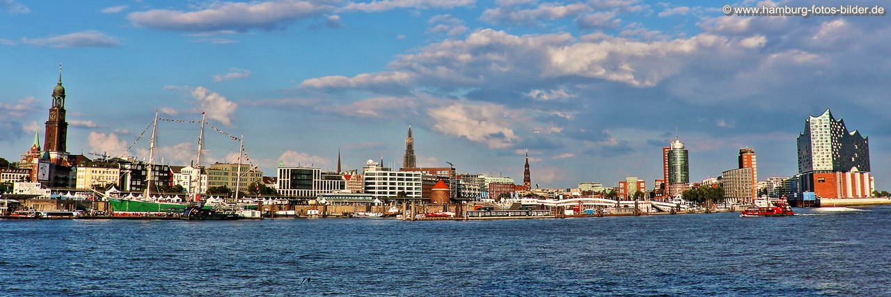 skyline hamburg panorama bilder hafen alster. Black Bedroom Furniture Sets. Home Design Ideas