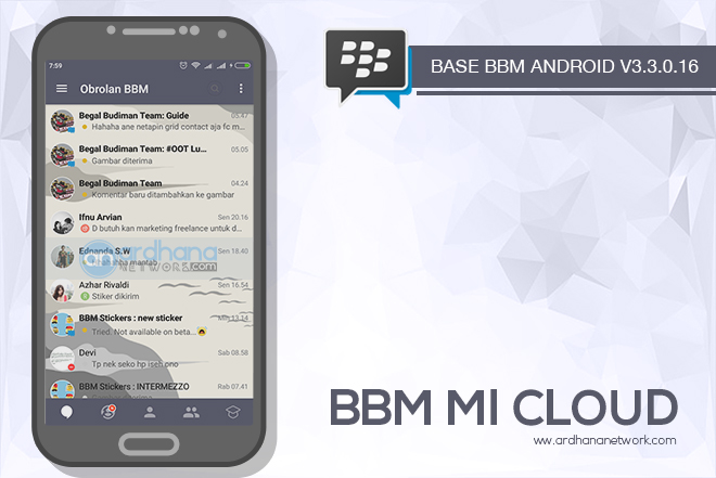 BBM Mi Cloud V3.3.0.16 - BBM MOD Android V3.3.0.16