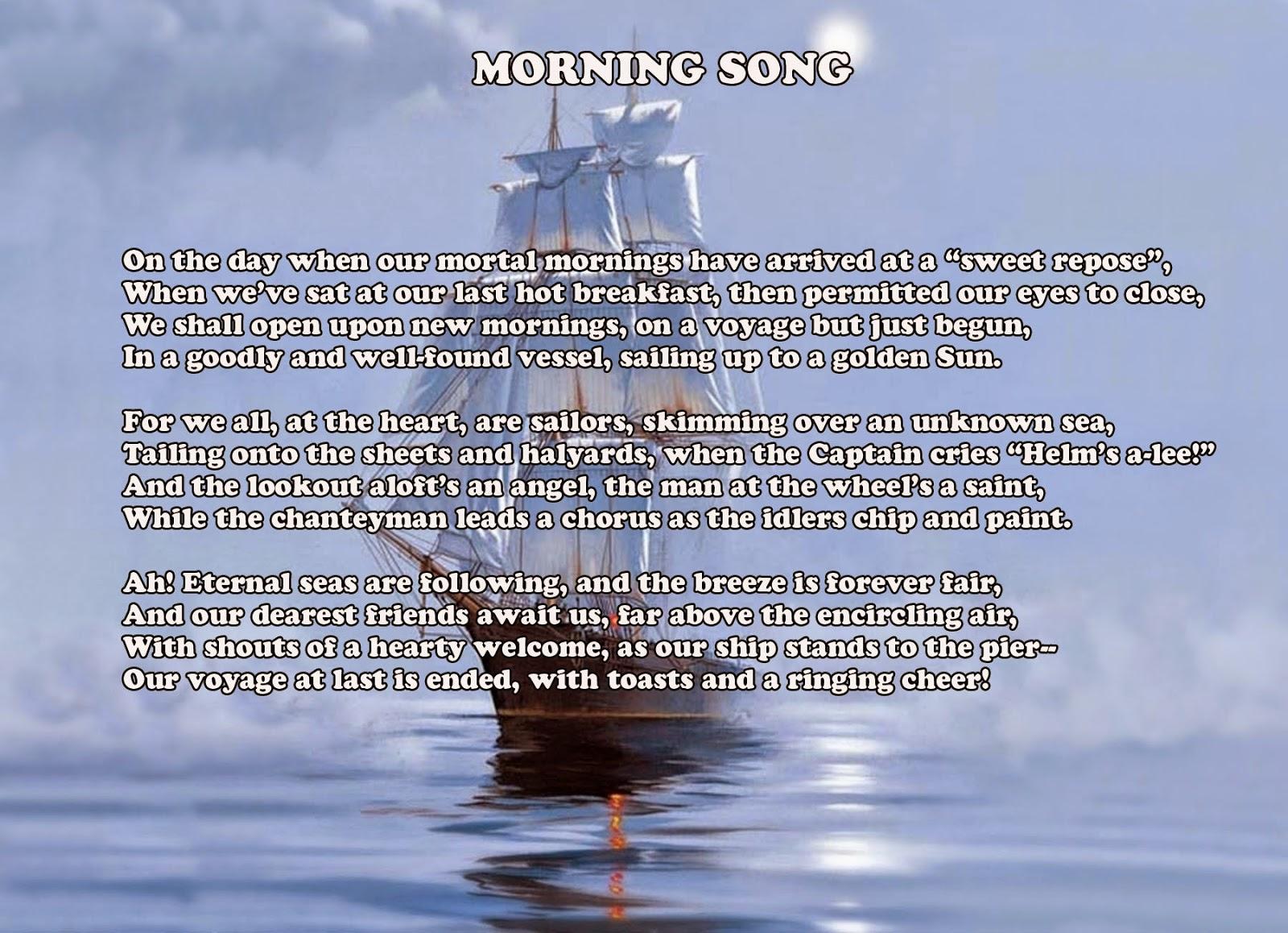 Translations Into Italian: USNA Class Of '54 Website!: Morning Song