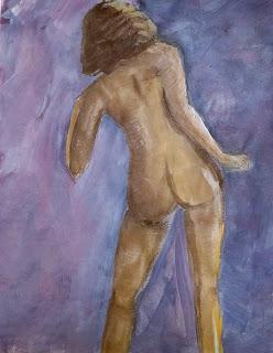 figure study in acrylic