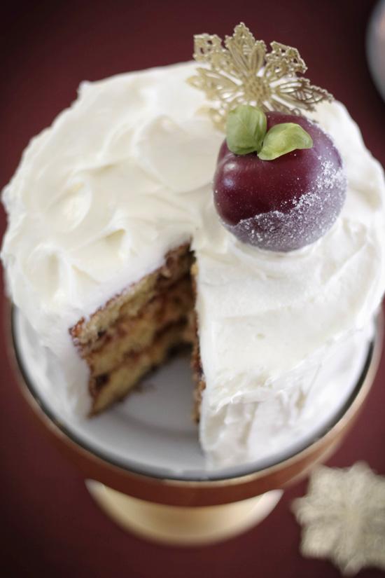 Red Plum Jam Cake