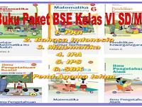 Buku Paket BSE PKn Bahasa Indonesia Matematika IPA IPS SBK  Kelas 6 SD/MI