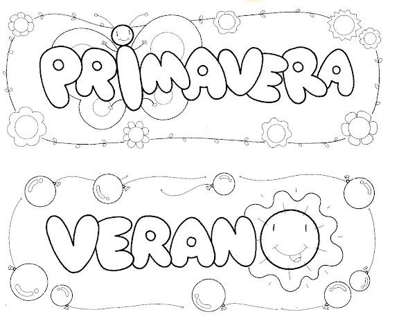 Dibujos De Las 4 Estaciones Para Colorear: Las 4 Estaciones Para Colorear