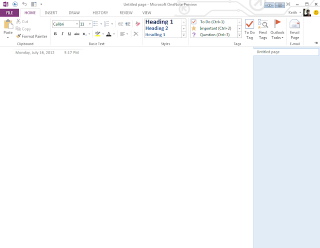 Microsoft Office One Note 2013 Metro UI