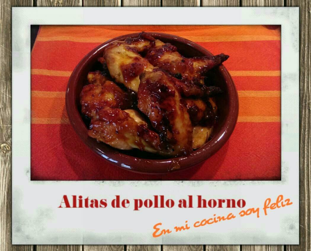 En mi cocina soy feliz alitas de pollo al horno en salsa - Salsas para el pollo al horno ...