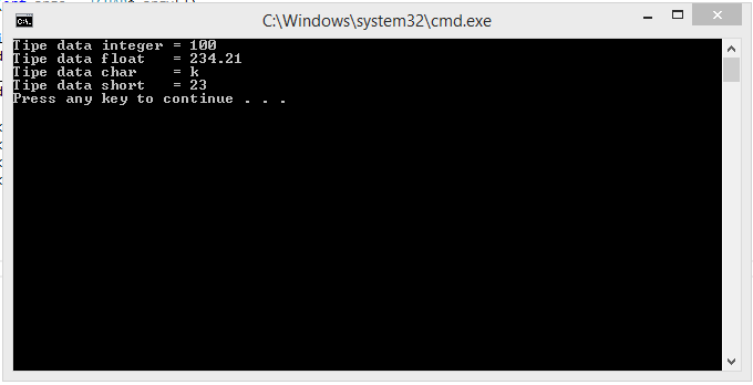 Tipe Data Pada C++