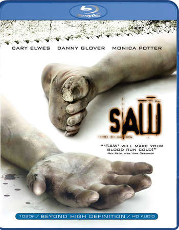 Poster Of Saw 2004 ORG Dual Audio 300MB BRRip 576p Free Download Watch Online