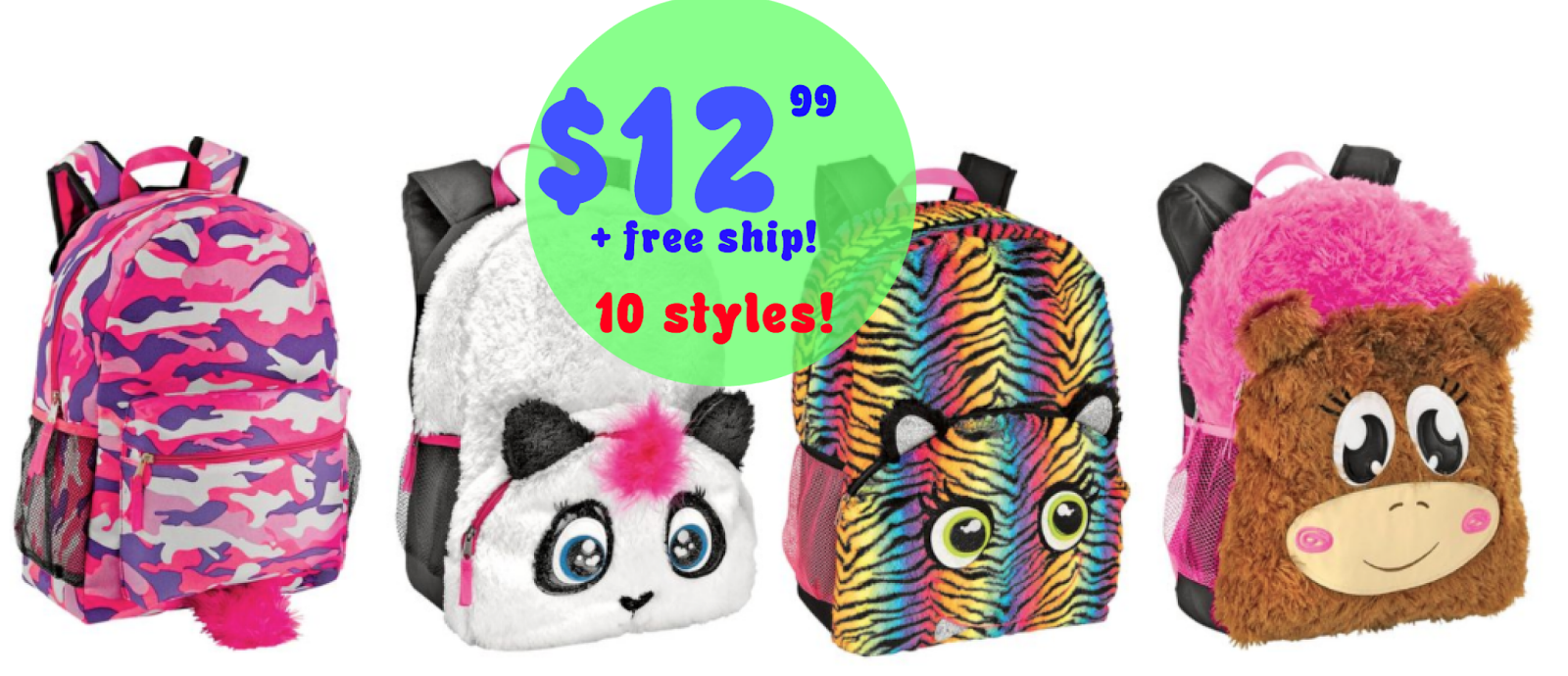Shopko:  Critter Backpacks = $12.99 + FREE Shipping!  50% off Messenger Bags, Lunch Bags & Backpacks!  Regularly $25.99!