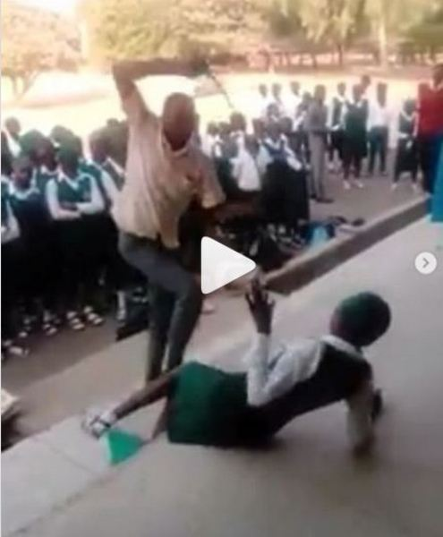 Watch Video As Students are Mercilessly Whipped For Failing To Resume On Resumption Day in Nassarawa