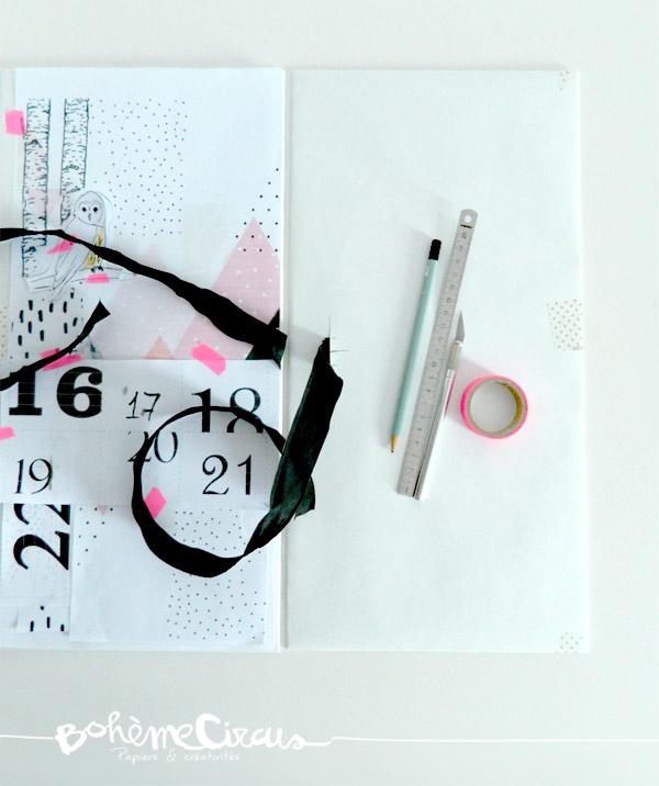 advent calendar- boheme circus - calendrier de l'avent - diy